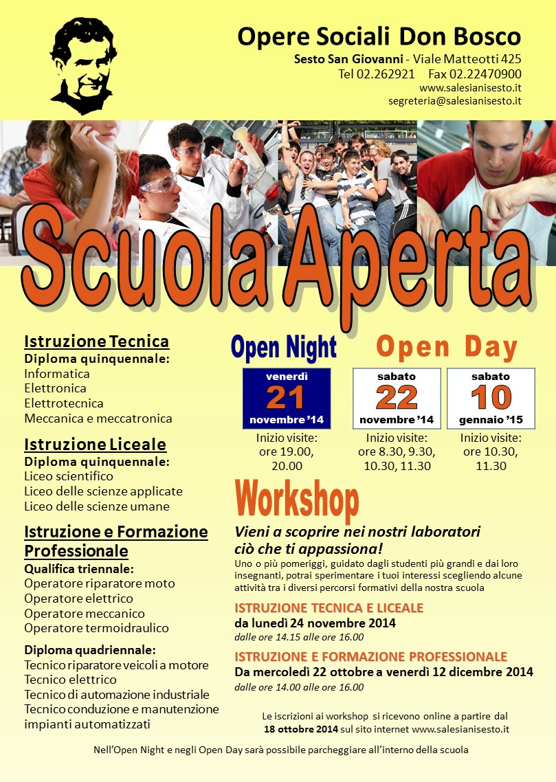 open day superiori 20142015
