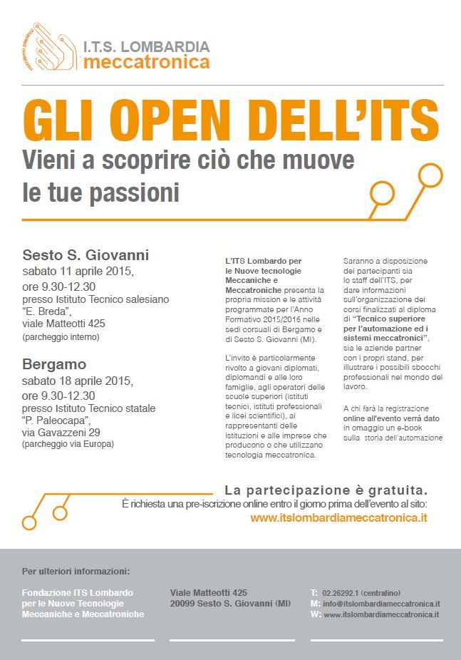 Manifesto GLI OPEN DELL'ITS 2015